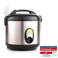 Klarstein Sapporo - Reiskocher , Reisbereiter , Reiskochtopf , 400 Watt , 1 Liter , Edelstahlgehäuse , Warmhaltefunktion , Antihaftbeschichtung , silber