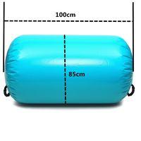 Air Track Tumbling Yoga Rolle 100x85cm Gymnastics Mat Luftmatratze Minzgrün  Mint Mat