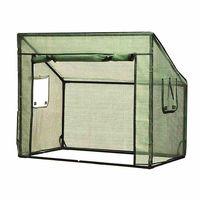 Siena Garden 405-431 Gewächshaus aus PE Gitterfolie für Hochbeet, 100 x 60 x 86/52 cm, grün (1 Stück)