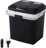 WOLTU KUE002sz Kühlbox, Tragbarer Mini Kühlschrank, 24 Liter Isolierbox zum Warmhalten, Kühlen DC 12V & AC 220V Schwarz Energieklasse A++