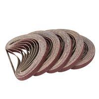 50 x Gewebe-Schleifband 330 x 10 mm Schleifband Schleifpapier für Bandschleifer Powerfeile Bandfeile Korn 40-120