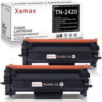 Xemax Kompatibel Toner für Brother TN-2420 TN2420 TN-2410 für Brother MFC-L2710DN, MFC-L2710DW, MFC-L2730DW, MFC-L2750DW, HL-L2350DW, HL-L2310D, HL-L2370DN, HL-L2375DW, DCP-L2510D, 2 schwarz