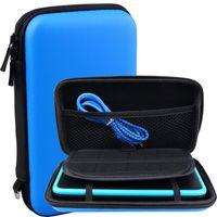 Exlene® Nintendo 2DS XL Tasche Schutz-Hülle EVA Hard Reise Schutzhülle + 3M usb-aufladungskabel,für Nintendo 2DS XL/ 3DS/ 3DS XL(Blau)