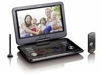 Lenco tragbarer DVD-Player 29cm (11,6 Zoll) DVP125, DVBT2 Tuner, Farbe: Schwarz