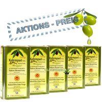 5x KOLYMPARI PDO 04035 Natives Olivenöl Extra 5 Liter (AKTION  5 x 1 Liter Dosen)