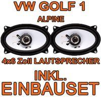 Lautsprecher - Alpine SXE-4625S - 4x6 Koax-System für VW Golf 1 - JUST SOUND best choice for caraudio