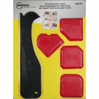 Benson Tools 008787 Silikon-Glätte-Satz 4tlg Silikonglätter Silkonfugen glätten