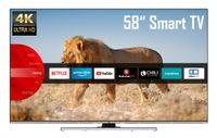 JVC LT-58VU8055 58 Zoll Fernseher (4K Ultra HD, HDR, Triple Tuner, Smart TV, Bluetooth, Works with Alexa)