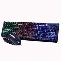 Gaming Tastatur und Maus Set Englische Layout 2.4GHZ Optische Ultradünne Tastatur DE