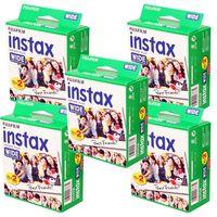 5 x FUJI Instax Wide Film für FUJI Instax 100 / 200 / 210 Kameras, 100 Aufnahmen