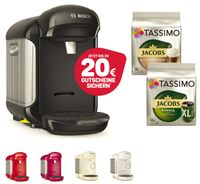 TASSIMO Vivy 2 + 20 EUR Gutscheine* + TDisc Jacobs Krönung XL+ Latte Macchiato , Farbe:Creme
