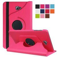 Hülle für Samsung Galaxy Tab A SM-T580 SM-T585 10.1 Zoll Schutzhülle Etui Tablet Tasche Smart Cover (Pink)