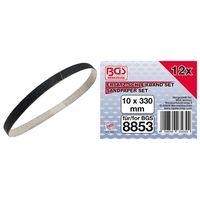 BGS 8853-1 Schleifband 10mm x 330 mm, 12 Stück, passend für Art. 8853