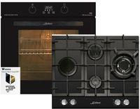 Kaiser Küchengeräte Gasherd-Set EH 6361 S + KCG 6394, Einbau-Backofen 60cm in Schwarz /Elektro Backofen/Gas-Kochfeld 60 cm/Autark/Drehspieß/Grill/Heißluft/Selbstreinigung/Erdgas/Propangas