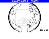ATE HINTEN Bremsbackensatz für RENAULT CLIO II BB0/1/2_ CB0/1/2_