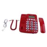 1 Stück Business Phone Schnellwahltelefon,1 Deutsch Setup-Menü Farbe rot