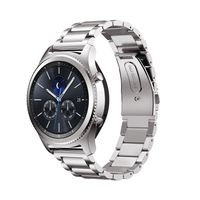 Ersatz Armband für Samsung Gear S3 Frontier / Classic 22mm Zubehör Uhr Metall Band Edelstahl (Farbe: silber)