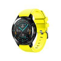 22mm Silikon Armband Armband Armband Ersatz mit Schnallenstreifen Oberfläche Kompatibel mit HUAWEI WATCH GT 2 46mm / HONOR MagicWatch 2 46mm