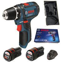 Bosch GSR 10,8-2-LI Professional, Lithium-Ion (Li-Ion), 10.8 V, 2.0 Ah, 169 mm, 178 mm, 950 g