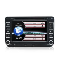 7 Zoll 2DIN Autoradio mit Navi für Golf 5 6 Passat Touran Skoda GPS DVD USB