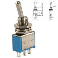 Mini Kippschalter 3 Polig 1UM 2 Stellungen Ein/EIN 250V Miniatur Schalter Micro
