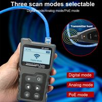 Multifunktionaler LCD-Netzwerkkabeltester Wire Tracker PoE-Checker Inline-PoE-Spannungs- und Stromtester mit Kabeltester mit Beleuchtungsfunktion