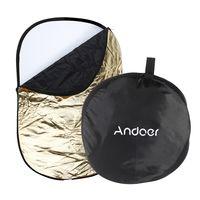 """Andoer 24 * 36""""/ 60 * 90cm"""" 5 in 1 Multi-Portable (Gold, Silber, weiss, schwarz, transluzent) zusammenklappbar Studio Foto Fotografie Light Reflektor"""