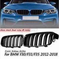 Für BMW 3 F30 F31 2012-2018 Doppelsteg Nieren Kühlergrill Grill Sport Schwarz