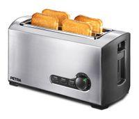 Petra TA 521.35 Belluno Langschlitz-Toaster, Edelstahlgeh?use, Stoppfunktion, Auftaufunktion, Br?tchenrost