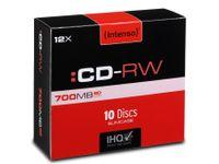 Intenso CD-RW 700MB / 80min, 12x, Slimcase