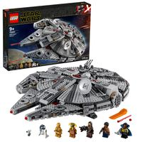 LEGO 75257 Star Wars Millennium Falcon Raumschiff Bauset mit Finn, Chewbacca, Lando Calrissian, Boolio, C-3PO, R2-D2 und D-O, Der Aufstieg Skywalkers Kollektion