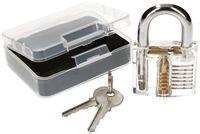 KOTARBAU® Lockpicking Set Transparentes Vorhängeschloss Trainingsschloss Übungsschloss zum Üben von Notöffnen von Schlössern