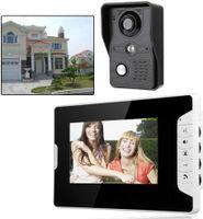 7 Zoll  Türsprechanlage Türklingel Funk Video Gegensprechanlage Monitor Kamera Set Video-Türgegensprechanlage Kabelgebunden für Zuhause Büro