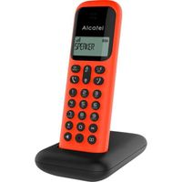 Alcatel D285 Mobilteil rot schnurlos Telefon Freisprechfunktion Wahlwiederholung ohne AB