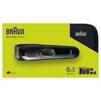 Braun 6-in-1 Multi-Grooming-Kit MGK3921 Geschenkset, für Bart, Kopf und Körper, inkl. Organizer, schwarz/grün
