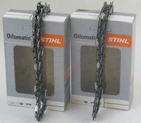 Stihl 2 Stück 36100000044, Halbmeißel Sägekette Picco Micro Mini 3/8P/1,1/44'