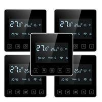 5-Pack Digital WIFI Raumthermostat Programmierbar Thermostat FußBodenheizung Raum Thermostat Innenthermometer mit App-Steuerung / Energie sparen
