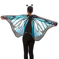 Oblique Unique Schmetterlingsflügel Umhang Schmetterling Kostüm Karneval - blau