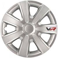AutoStyle Radkappen VR 15 Zoll ABS Silber 4er Set