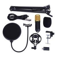 Kondensator mikrofon bündel, 8-in-1 kardioid kondensator mikrofon kit für studio aufnahme brocasting podcasting chat mic kit