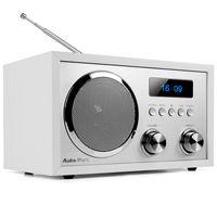AudioAffairs DAB+ Digital Radio, Nostalgie-Radio, UKW Radio, FM, Bluetooth, kleines Küchenradio, Radiowecker, DAB Plus Radio, Retro-Radio