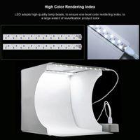 Faltbarer Doppel LED Streifen Photo Studio Photography Light Box + 6 Hintergründe