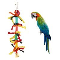 Parrot Baumwolle Chewing Toy, bunt und unterhaltsam, hält Birdy glücklich