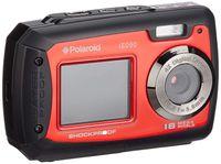 Polaroid iE090 Digitalkamera 18MP Unterwasser LCD digitaler Zoom 4x schwarz rot