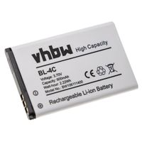vhbw Li-Ion Akku 600mAh (3,7 Volt) passend für BLU Charleston, Click, Click Lite, Deco Mini, Deejay, Deejay Lite Handy Telefon