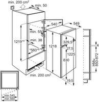 Zanker KTAK12ES1 Einbau Kühlschrank mit Gefrierfach 191L 122er Nische 187kW/Jahr