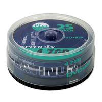 25er Spindel Platinum DVD+RW 4,7 GB Rohlinge 120 Minuten Aufnahmezeit max. 4x Schreibgeschwindigkeit