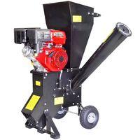 Benzinbetriebene Gartenhäcksler mit 15 PS 102mm Holzhäcksler Motorhäcksler Schredder