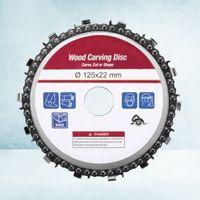 5 Zoll Schleifscheibe und Kette Feinschleifkette Carver Aufsatz für Winkelschleifer (Schleifscheibe + Kartonverpackung)