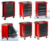 Werkstattwagen / Rollwagen ECO mit 3-5-6-7-8-9 Schubladen RAL 3020/7016, Anzahl Schubladen:7 Schubladen